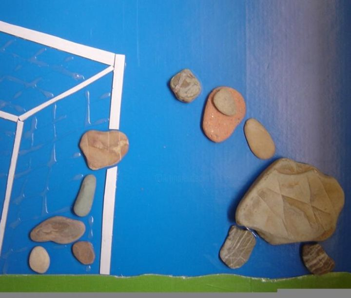 """Painting titled """"Primitive games"""" by Nick Name, Original Art,"""