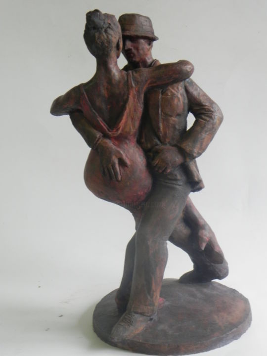 Tango - Sculpture,  0 cm ©2014 by Nicola Deux -                            Ceramic, Danse, Couple