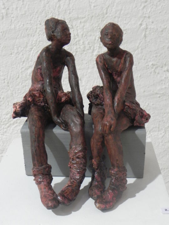 L'Attente - Sculpture,  0 cm ©2014 by Nicola Deux -                            Ceramic, Danseuses. Fillettes