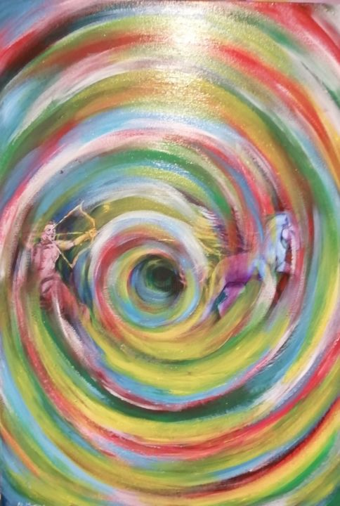 """Painting titled """"Nel vortice"""" by Nicola Magrone, Original Art, Acrylic"""