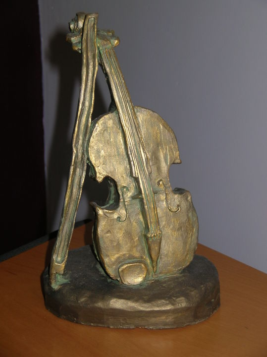 violon 1 - Sculpture, ©2010 by NICO -                                                                                                                                                                                                                                                                                                                                                                                                              Figurative, figurative-594, Other, Music, violon, violin, music musica, instruments