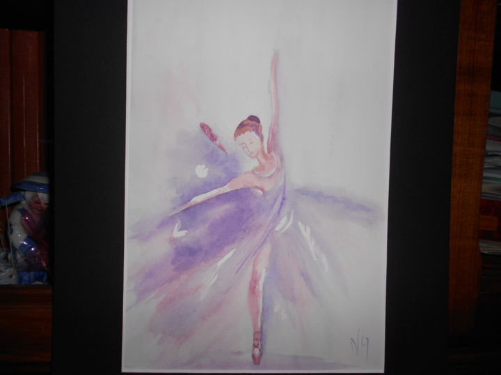 ballerina - Painting,  40x30x0.1 cm ©2017 by Nicole Quillec -                                                        Figurative Art, Other, Portraits
