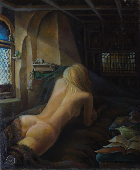 """Painting titled """"Waiting for the pri…"""" by Sergey Lesnikov, Original Art, Oil"""