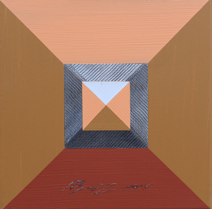 """Painting titled """"Pyramid 19"""" by Nikolay Buzov - Gallery Maestro, Original Art, Acrylic Mounted on Stretcher frame"""