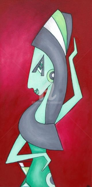 Amy - Painting,  60x30 cm ©2011 by Nina Boos -            Amy Winehouse Wein Musik 27ger Club Drogen