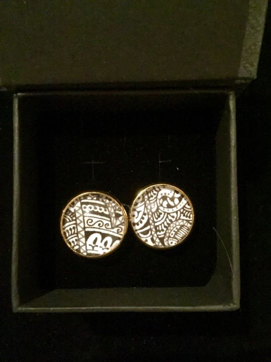 Cufflinks S - Painting ©2017 by Niriti Mehta Jain -