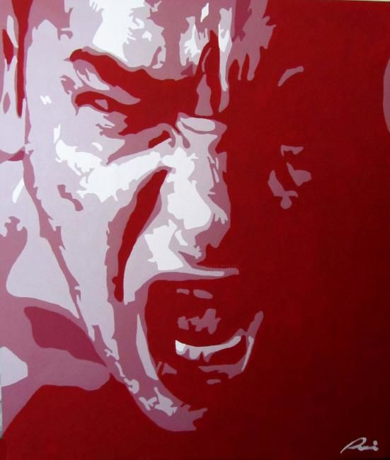 ira - Painting,  80x60 cm ©2012 by NiRoe -            acrylic painting of a man portrait
