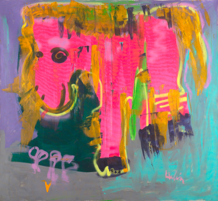 """Painting titled """"""""Pink Dreams"""" Conte…"""" by Noah Lubin, Original Art, Acrylic"""