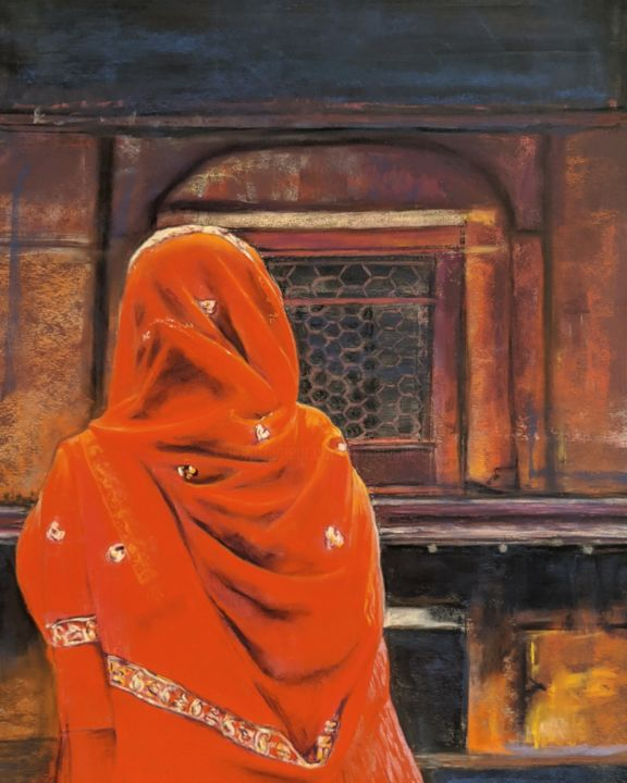 """Painting titled """"Immersed"""" by Nadia Sheikh, Original Art, Pastel"""