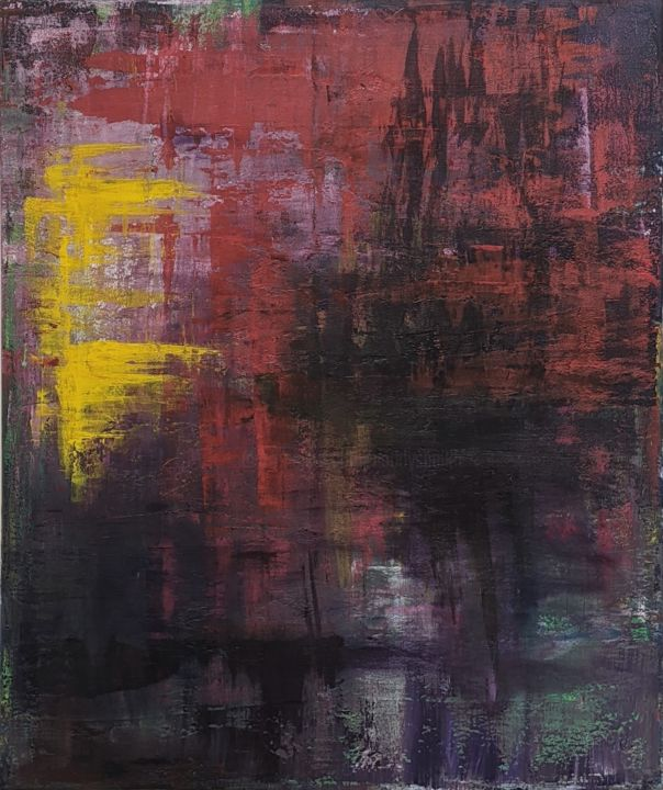 """Painting titled """"Lost in mist"""" by Nadia Sheikh, Original Art, Acrylic"""