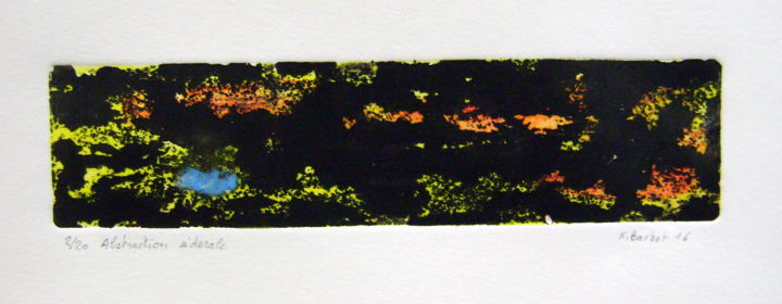 abrstaction-siderale-4.jpg - Printmaking,  2x7.9 in, ©2016 by Noël Barbot -                                                                                                                          Abstract, abstract-570