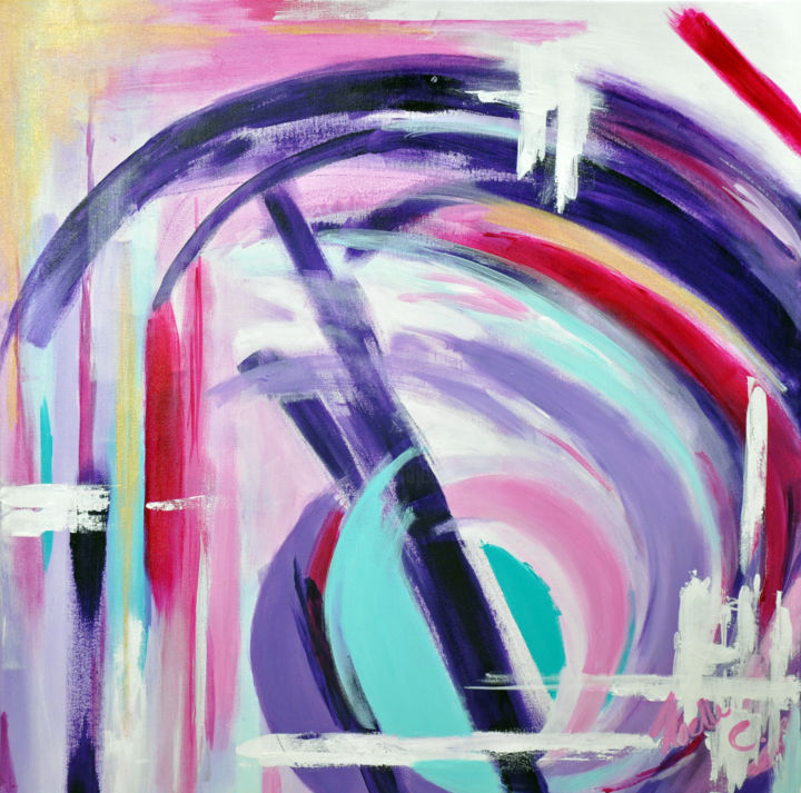 """Painting titled """"noelleconnell-puffy…"""" by Noelle Connell, Original Art,"""