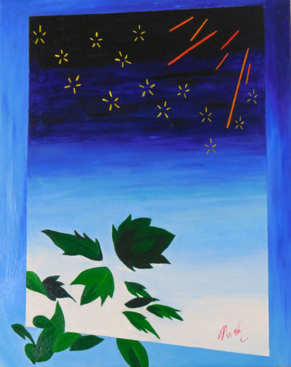 """Painting titled """"noelleconnell-refle…"""" by Noelle Connell, Original Art,"""