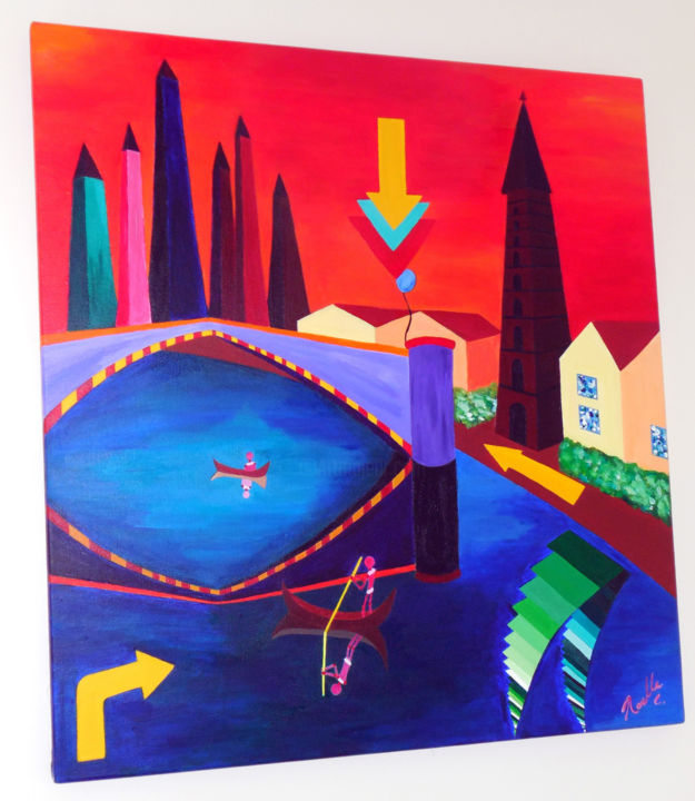 """Painting titled """"noelleconnell-parad…"""" by Noelle Connell, Original Art,"""