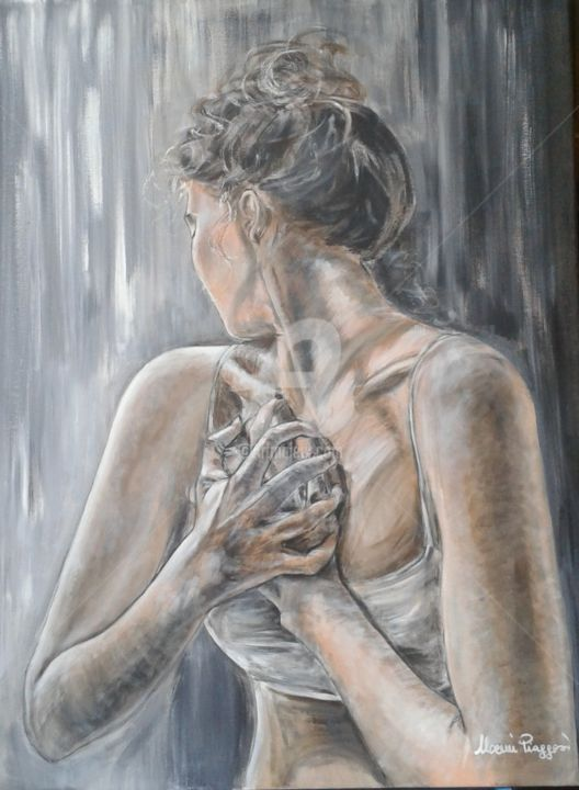 """Painting titled """"""""tormento d'amore"""""""" by Piaggesi Noemi, Original Art, Acrylic"""