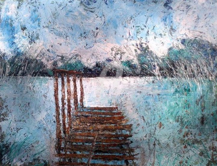 """Painting titled """"""""in un sogno"""""""" by Piaggesi Noemi, Original Art, Oil"""