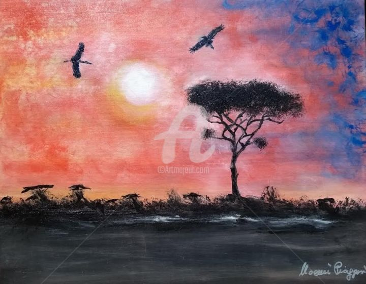 """Painting titled """"""""pace"""""""" by Piaggesi Noemi, Original Art, Oil"""