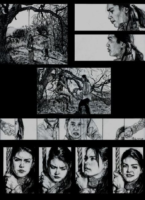 The confession part 2 - Drawing, ©2003 by No Matt's Land -