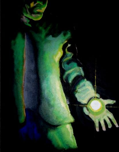 My left hand (revised) - Painting, ©2005 by No Matt's Land -