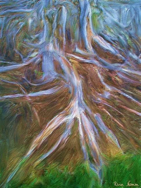 """Painting titled """"My Roots"""" by Rein Nomm, Original Art, Oil"""