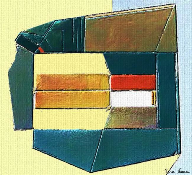 """Painting titled """"Equivalence"""" by Rein Nomm, Original Art, Oil"""