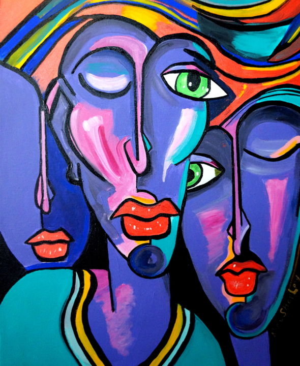 The Three Of Us Painting By Nora Shepley Artmajeur