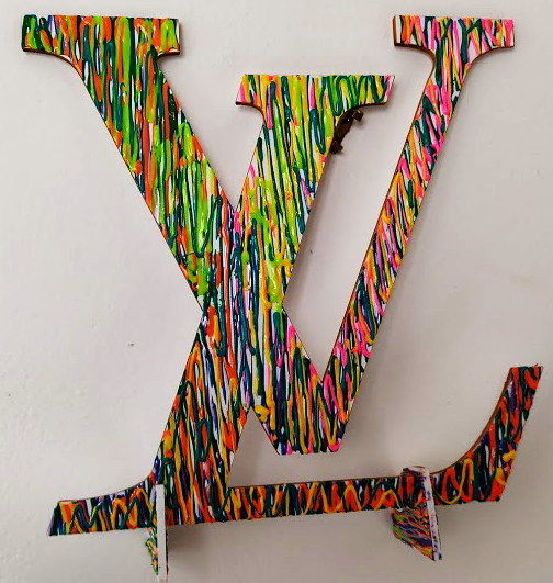 """Sculpture titled """"LV"""" by Norberto Quinto, Original Art, Acrylic"""