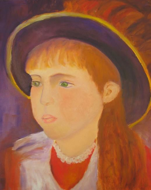 """After Renoir - my """"Grace"""" - Painting,  12x12 in, ©2010 by Noreen Schumann -                                                                                                                                                                                                                      Figurative, figurative-594, After Renoir, Grace"""