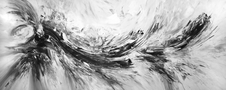 93731c4baa7 Slim  Black And White 1 (2018) Painting (80x200x4 cm)