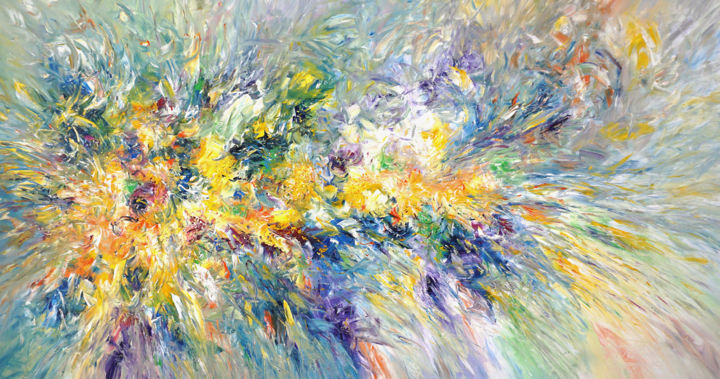 """Painting titled """"Nature Vitality XXL…"""" by Peter Nottrott, Original Art, Acrylic"""