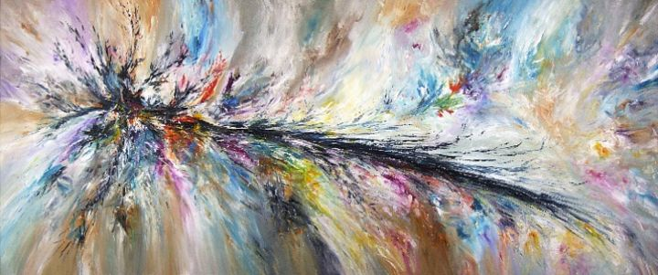"""Painting titled """"In My Dreams XXXL 1"""" by Peter Nottrott, Original Art, Oil"""
