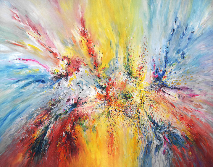 """Painting titled """"Enjoy Every Day XXX…"""" by Peter Nottrott, Original Art, Oil"""