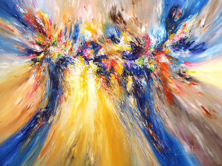 """Painting titled """"Symphony Of Dreams.…"""" by Peter Nottrott, Original Art, Acrylic"""