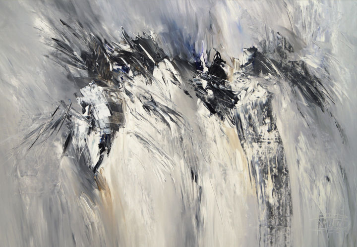 Mountain Black And White Abstract Art