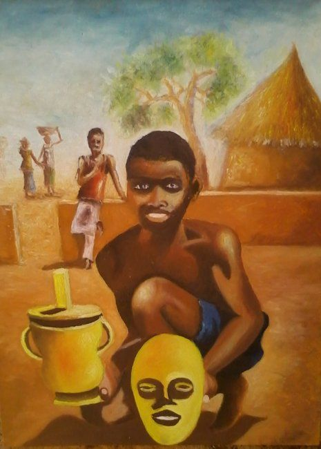 Painting,  65 x 50 cm ©2011 by Noufou Kabore -  Painting