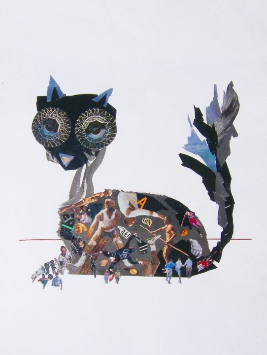 """Collages titled """"GATO"""" by Marcelo Novo, Original Art,"""