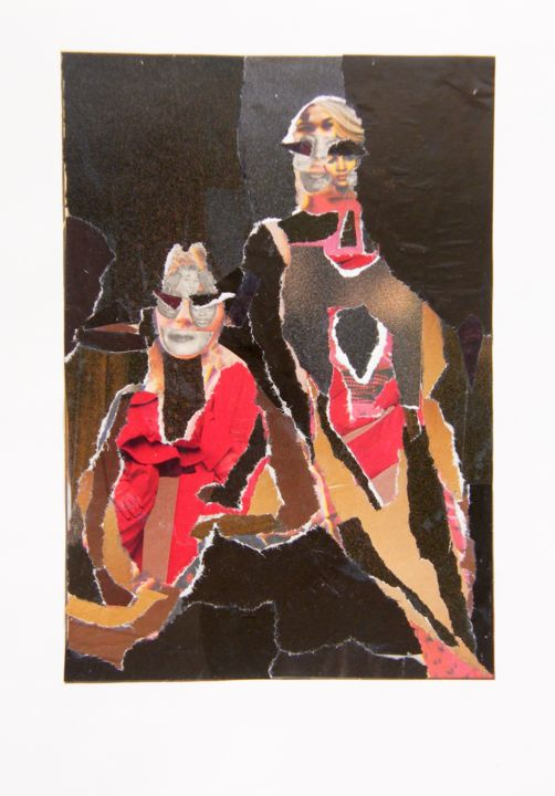 """Collages titled """"MUJERES"""" by Marcelo Novo, Original Art,"""