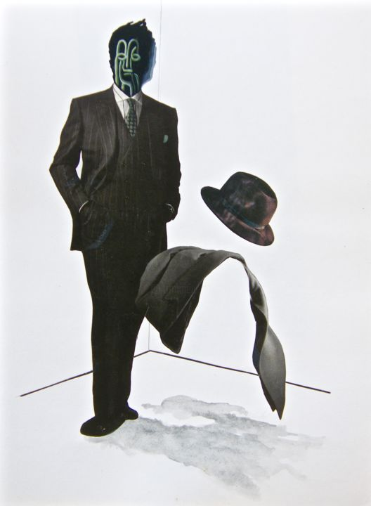 """Collages titled """"SUITED UP"""" by Marcelo Novo, Original Art, Paper"""