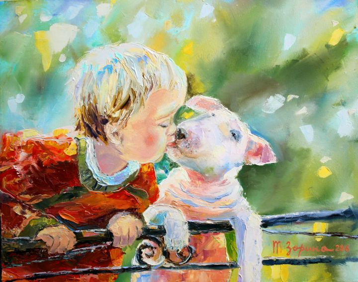 Little friends painting by tatyana zorina artmajeur