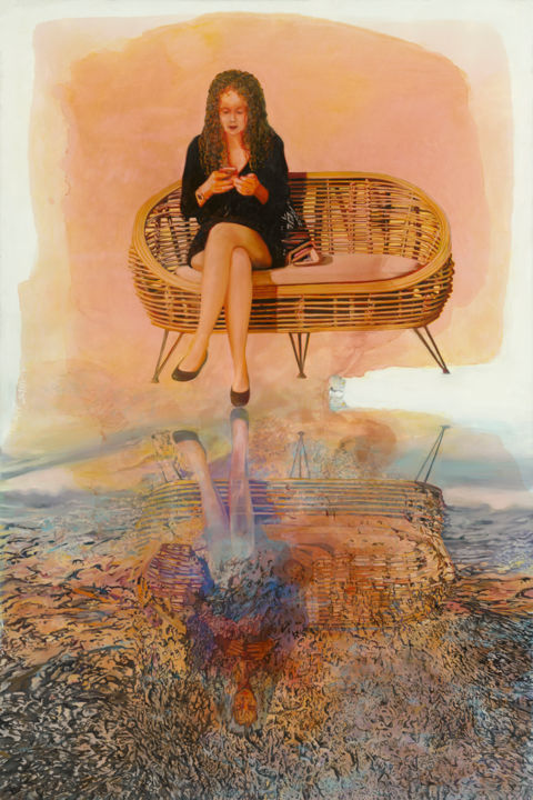 """Painting titled """"looking into nothin…"""" by Shany, Original Art, Oil"""