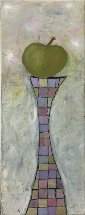 """Painting titled """"""""An Apple a Day Kee…"""" by Maria Rogers, Original Art, Acrylic"""