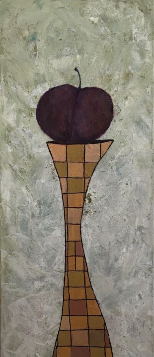 """Painting titled """"Plum Role  #artists…"""" by Maria Rogers, Original Art, Acrylic"""