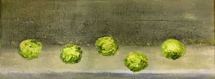 """Painting titled """"Lime Dance"""" by Maria Rogers, Original Art, Acrylic"""