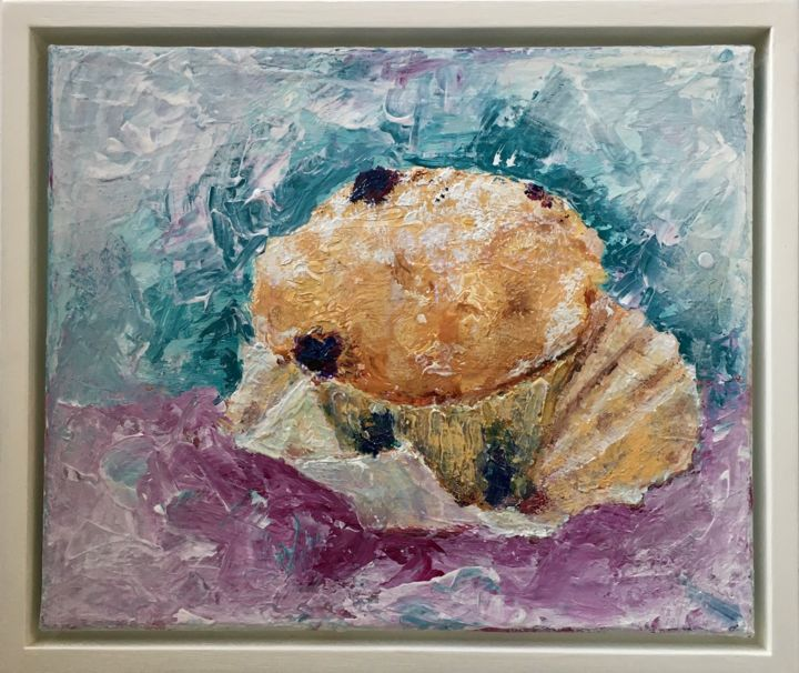 """Painting titled """"My Muffin"""" by Maria Rogers, Original Art, Acrylic"""