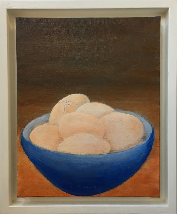 """Painting titled """"Eggs Minus One"""" by Maria Rogers, Original Art, Acrylic"""