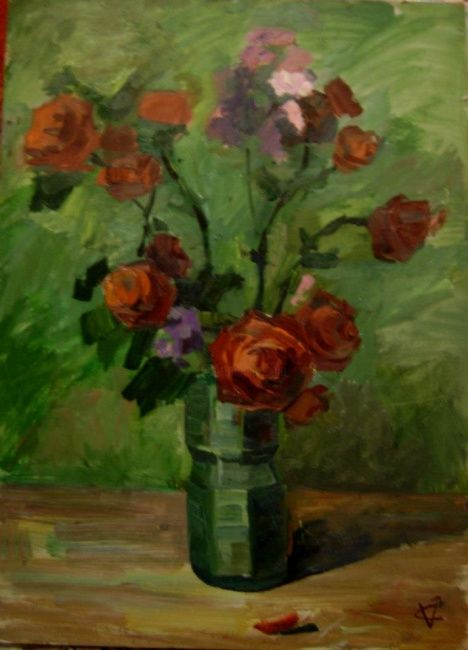 """Painting titled """"roses"""" by Victoria Ceban, Original Art,"""