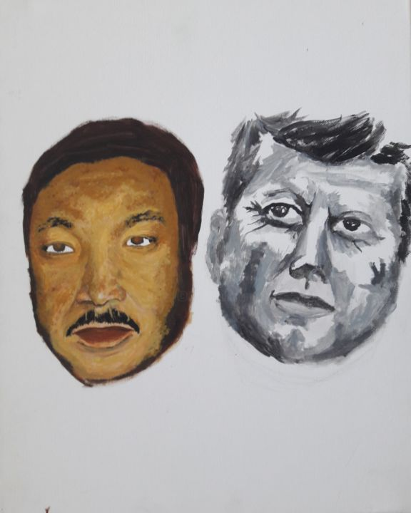 """Painting titled """"Martin Luther King…"""" by Nwoha, Original Art, Acrylic"""