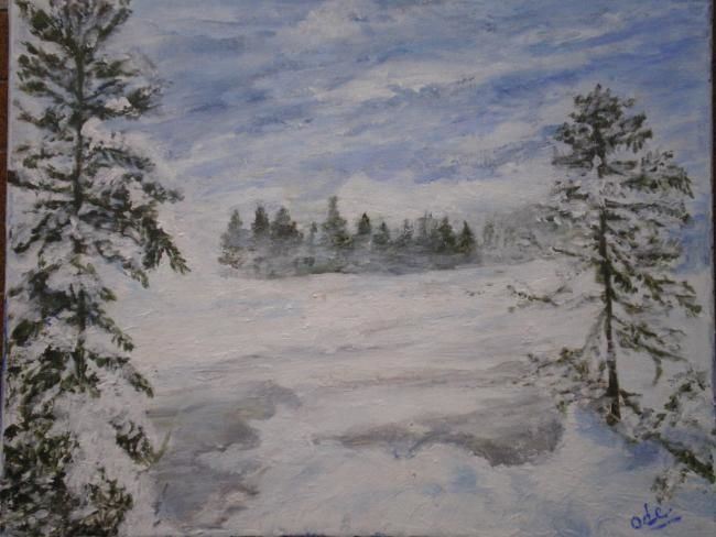 Painting,  40 x 50 cm ©2010 by Ode  -  Painting, Impressionism