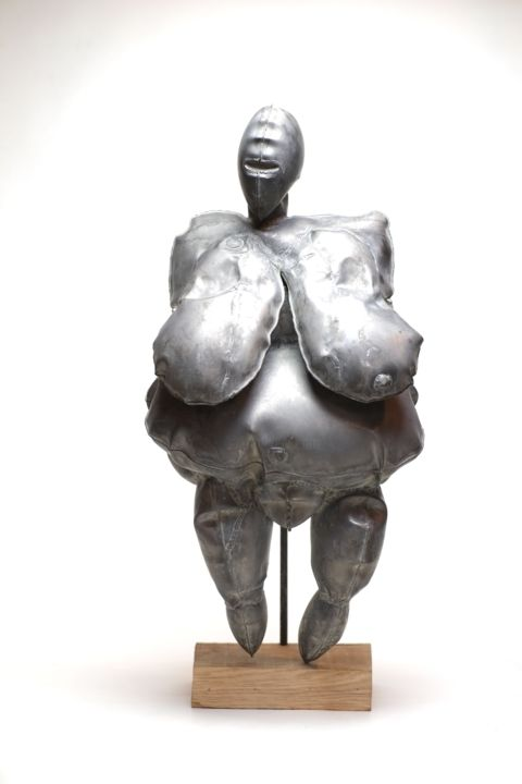Women Sculpture, metals, tribal art, artwork by Ofely Art (Vilgeniy Melnikov)