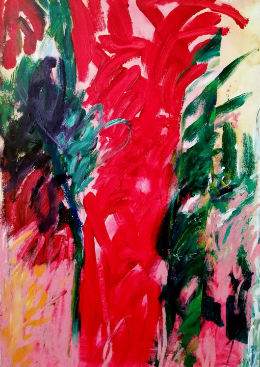 Arbitru - Peinture,  25,6x18,1x0,8 in, ©2004 par Bernard Filippi -                                                                                                                                                                          Abstract, abstract-570, Arbre